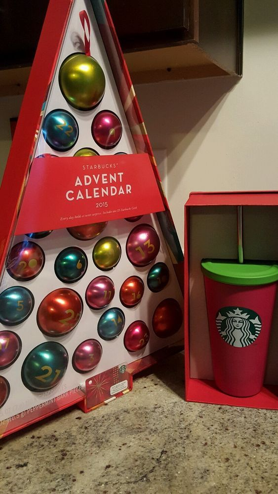 Details About 2015 Starbucks Tumbler Advent Calendar Dot Collection 5 Gift Card Coffee Cup Starbucks Starbucks Tumbler Advent Calendar 2015