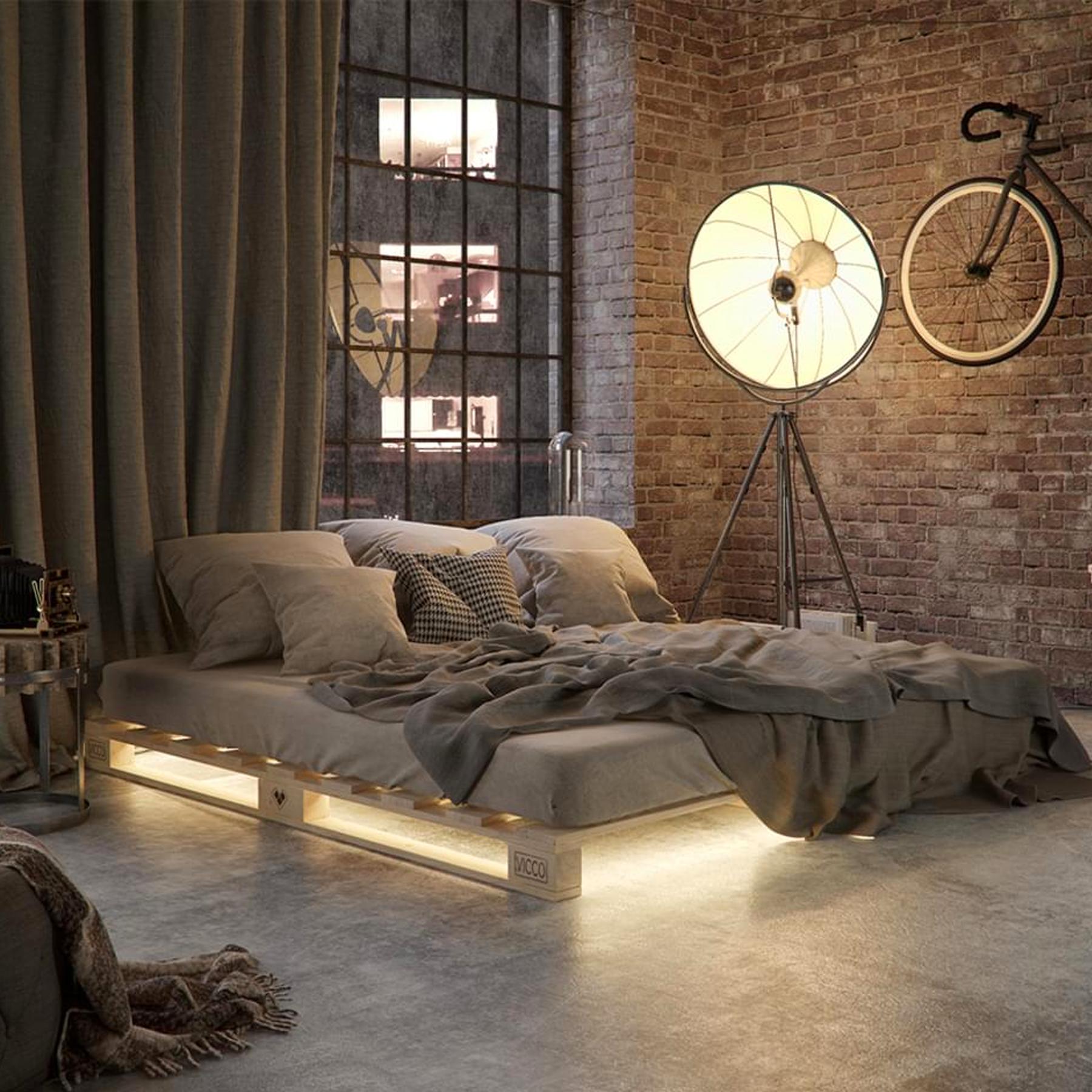 Photo of Pallali letto VitaliSpa 200×200 letto in legno massello letto in legno futon letto pallet mobili