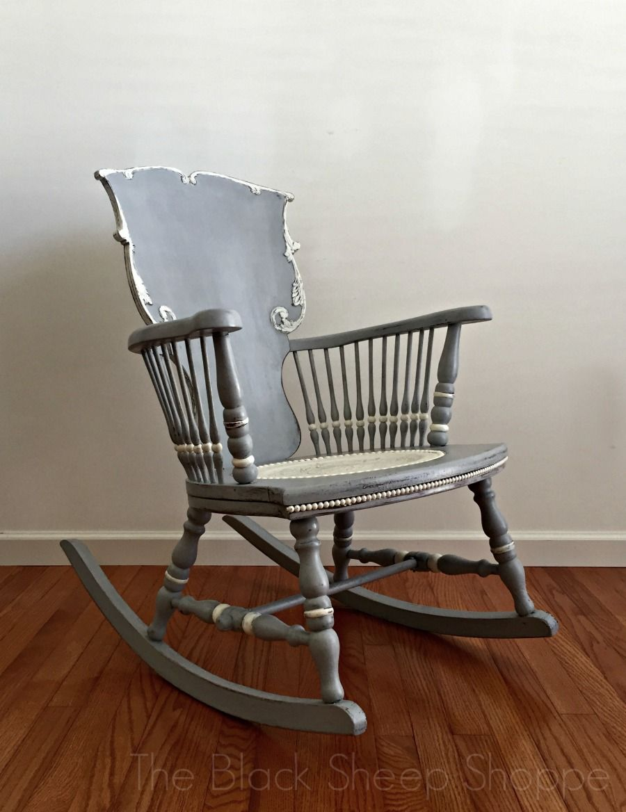 Stupendous Antique Rocking Chair Seat Replacement And Painted Finish Interior Design Ideas Inamawefileorg