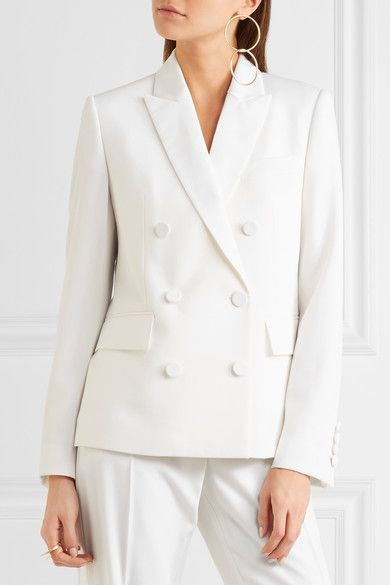 d78a087f68da7 Stella McCartney - Double-breasted Wool-twill Blazer - Ivory ...