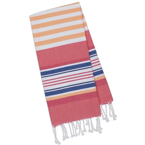 Beachy Pink Stripes Fouta Towel - Small - DII Design Imports // www.designimports.com
