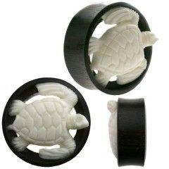 White Turtle Organic Ear Tunnel Plugs Double Flare