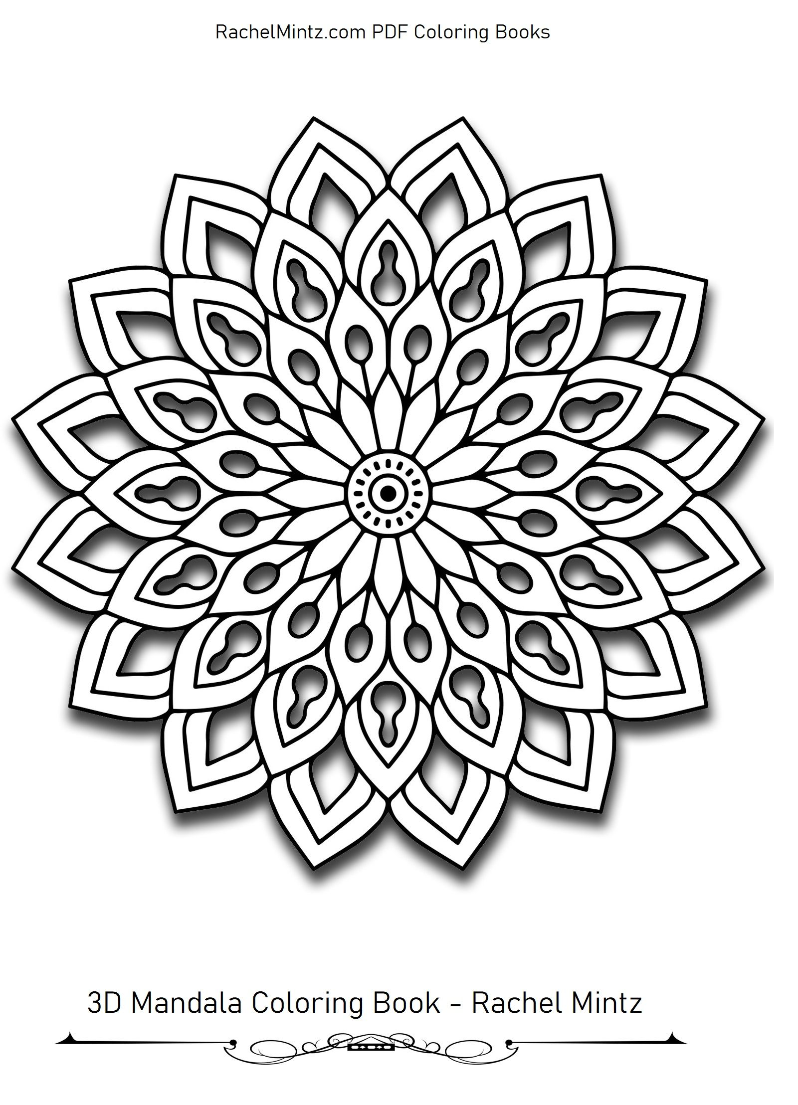 3d Patterns Coloring Pages Pdf Book Coloring Books Pattern Coloring Pages Mandala Coloring