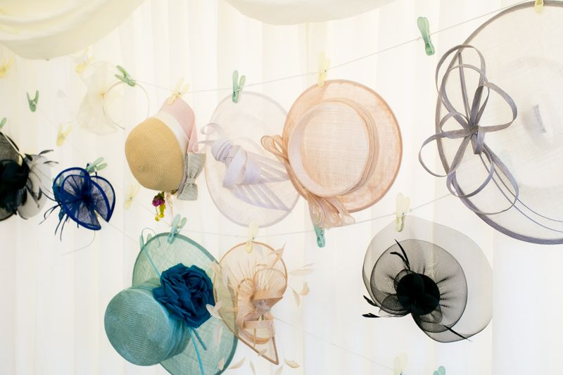 How To Hang Your Hats Ribbons And Pegs Are A Fun Way Of Providing Guests With A Place To Leave Their Marquee Wedding Decoration Hat Hanging Marquee Decoration