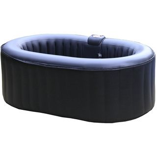 Homax 145 Gallon Inflatable 2 Person Oval Portable Hot Tub