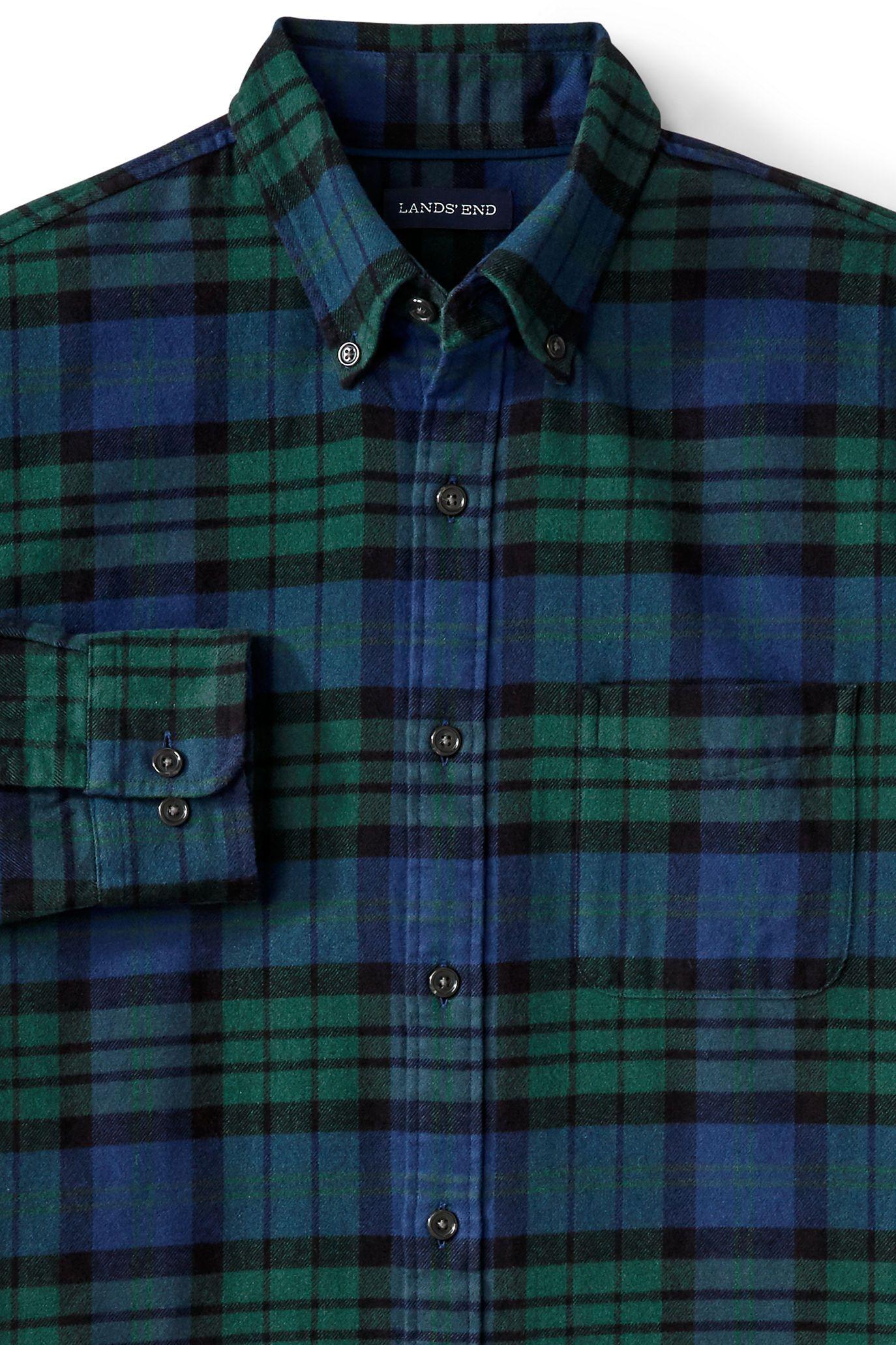 b1ca61a97 Lands' End Flagship Flannel—Blackwatch Tartan | Style | Casual ...