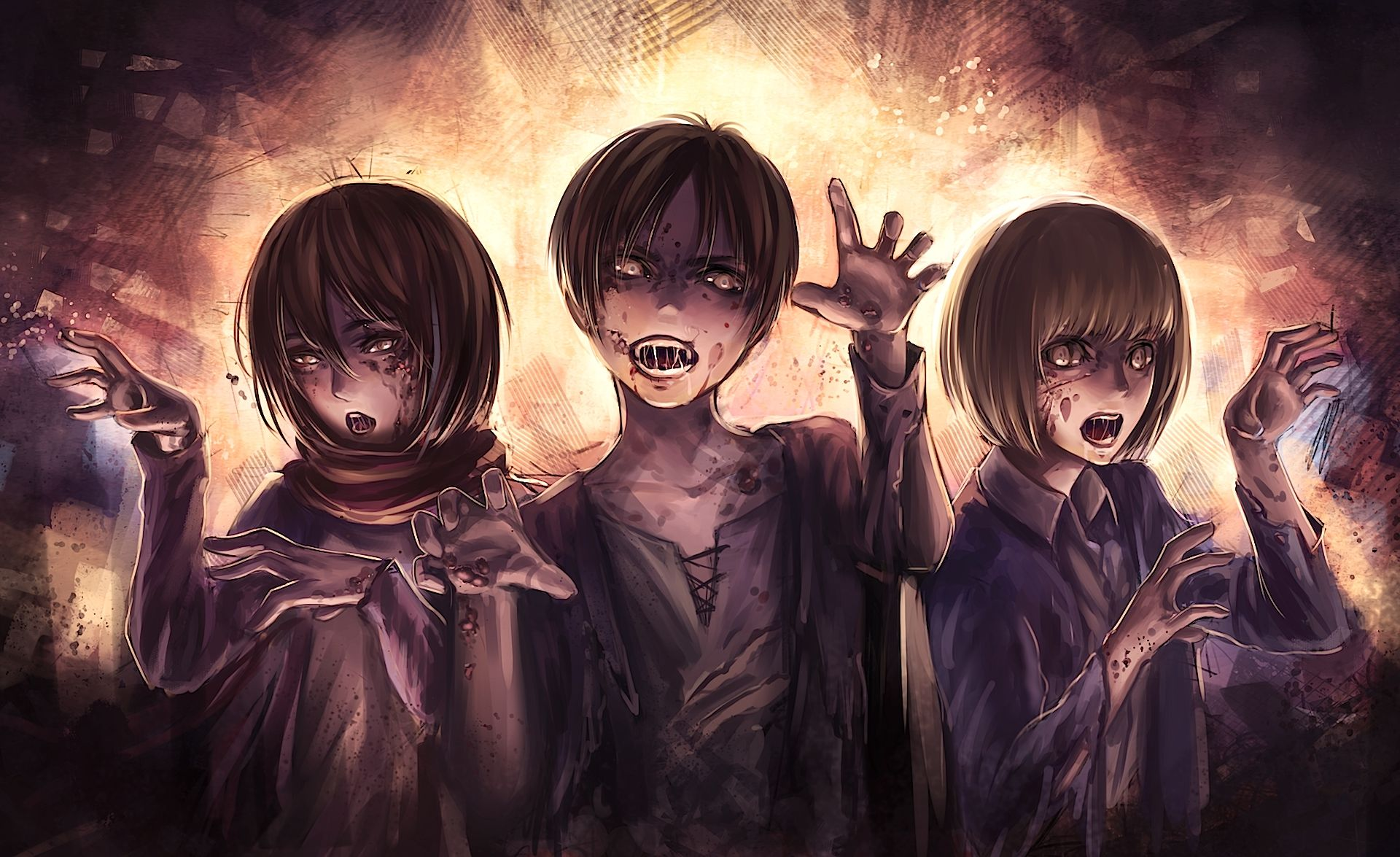 15 Wallpaper Anime Eren Tachi Wallpaper