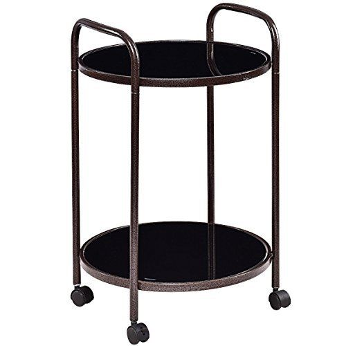Description This portable kitchen trolley cart is ideal for adding extra counter space to your kitchen or dining room. Featuring four universal steering casters, it provides more easier mobility. 2 casters are lockable to meet your need. 2 layer design offers large storage space and enhances the... more details available at https://furniture.bestselleroutlets.com/game-recreation-room-furniture/home-bar-furniture/bar-serving-carts/product-review-for-giantex-2-tier-round-kitche