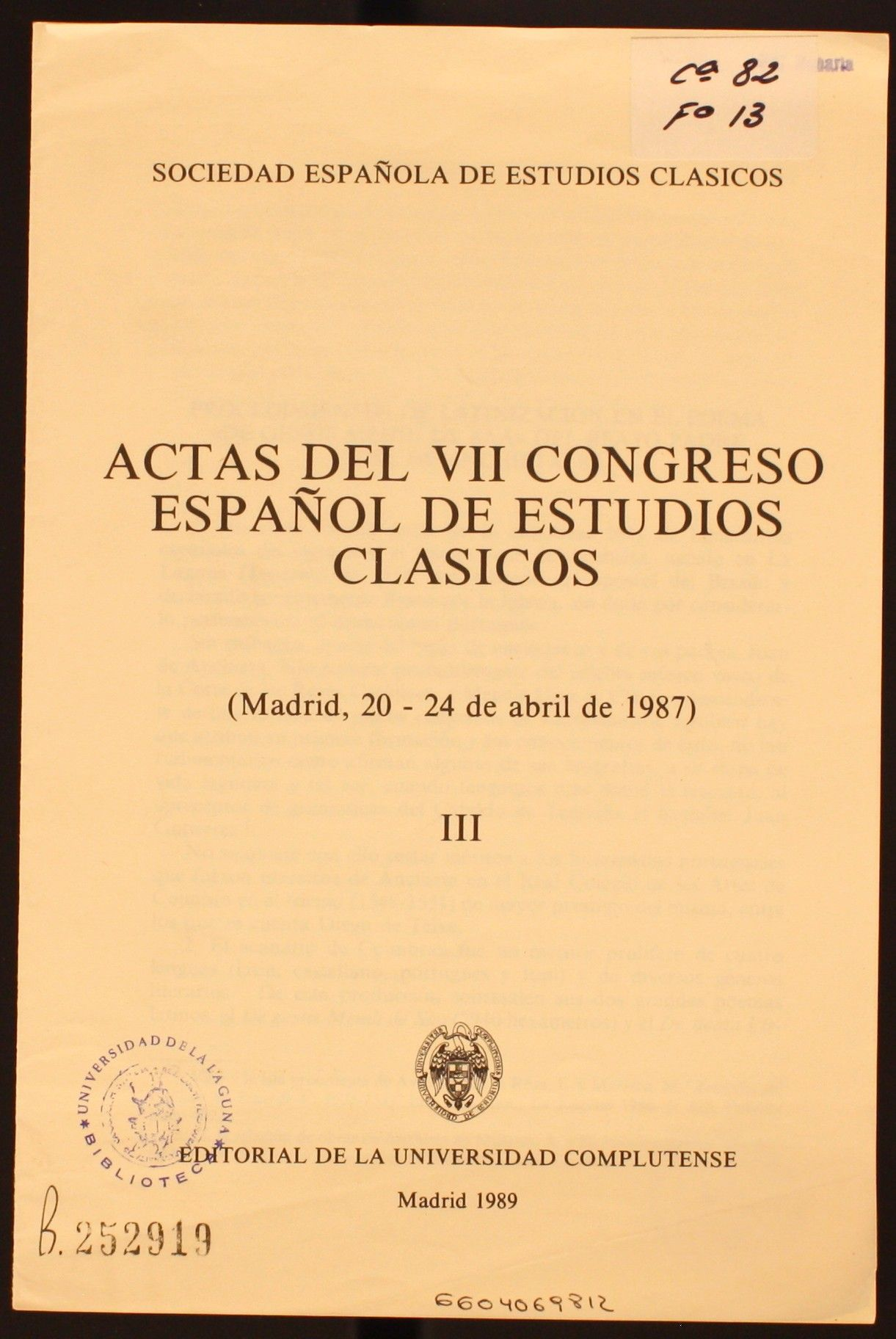"""Procedimientos de latinización en el poema """" de gestis mendi de saa"""" del Beato Padre José de Anchieta, S.I. / Francisco González Luis. 1989 http://absysnetweb.bbtk.ull.es/cgi-bin/abnetopac01?TITN=145311"""