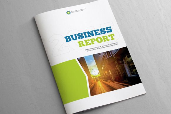 Business Report  Template By Templatepickup On Creative Market