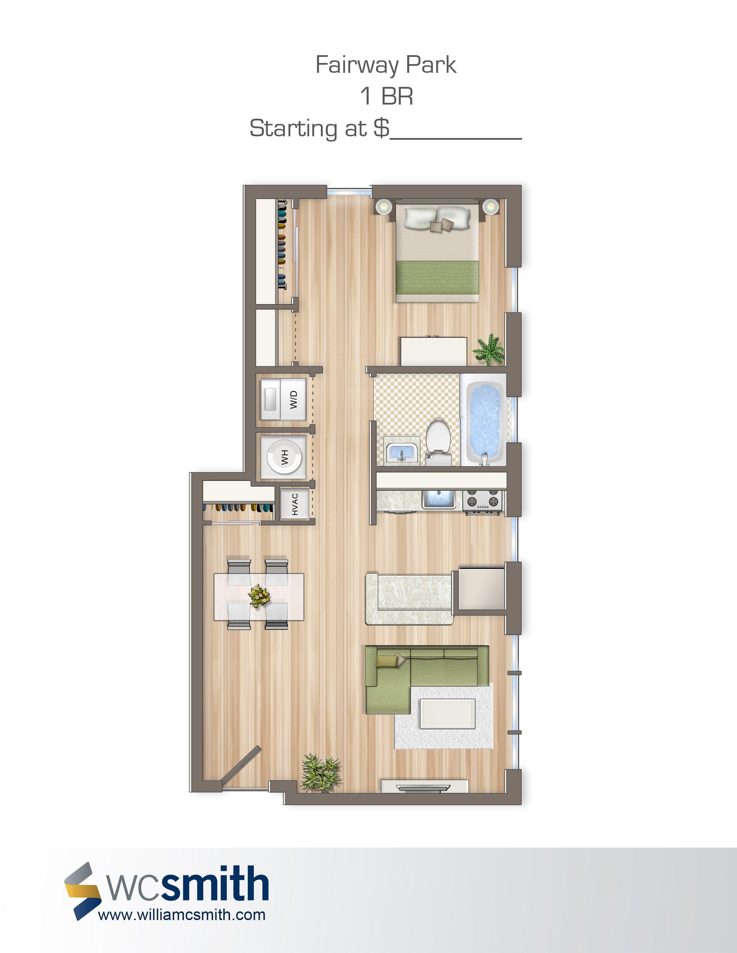 One bedroom floor plan fairway park in northeast for Northeast house plans