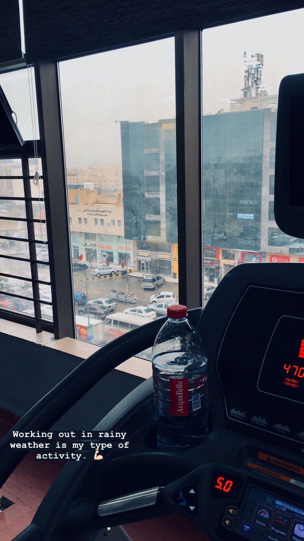 Working out in a rainy day is so therapeutic. #workout #gym #fitness #abs #healthyliving #health #he...