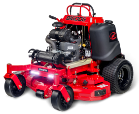 Bigdog Trooper Stand On Commercial Ztr Zero Turn Mower Offers Smoothest Steering And Commercial Grade Decks Backed B Mower Lawn Care Business Zero Turn Mowers