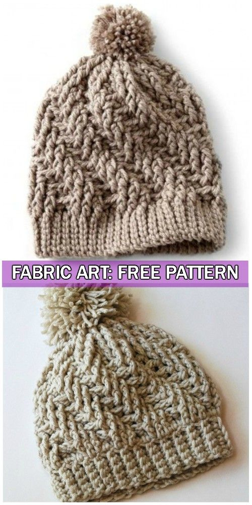 72bec07354f Crochet Stepping Texture Winter Hat Free Pattern With Video ...