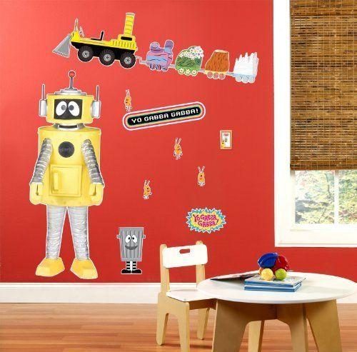 Yo Gabba Gabba Plex Giant Wall Decal By Party Destination 4040 Beauteous Yo Gabba Gabba Bedroom Decor