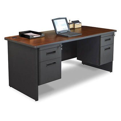reception home hutch executive office mahogany furniture for l in with finish sale antique desks veneer desk prism