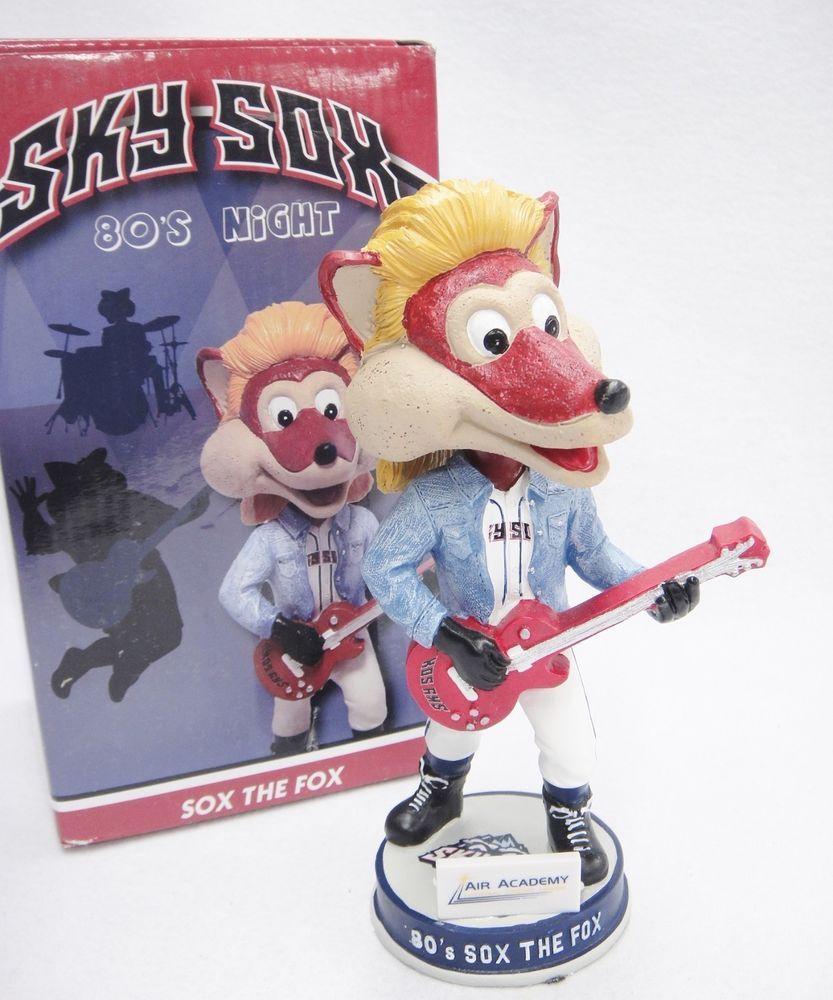 Sox The Fox Bobble Head 80s Night Sky Sox Minor League Baseball