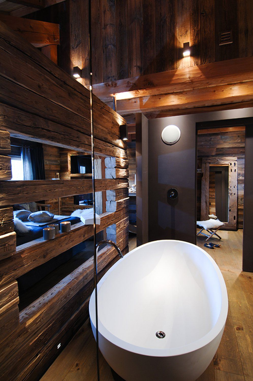 Aménagement salle de bain chalet La Clusaz - Chalets Bayrou ...