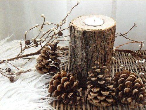 Decoration buche de noel fait maison