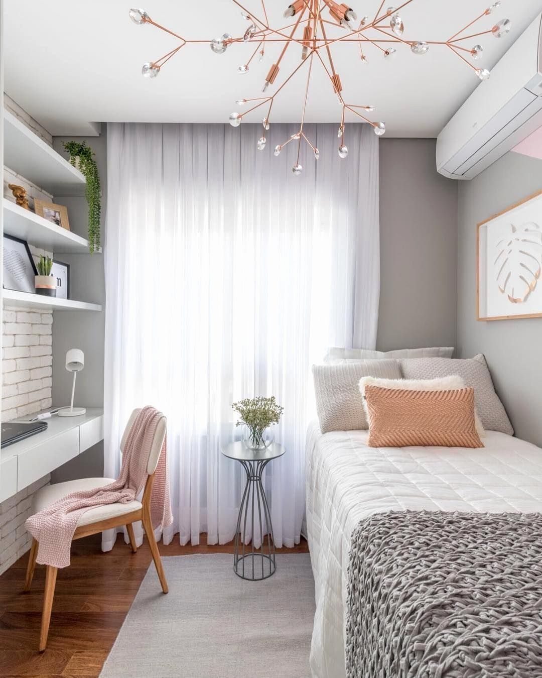 Bedroom Ideas For Small Rooms New 40 Space Saving Ideas For Small Bedrooms In 2020 Small Bedroom Decor Small Apartment Bedrooms Woman Bedroom
