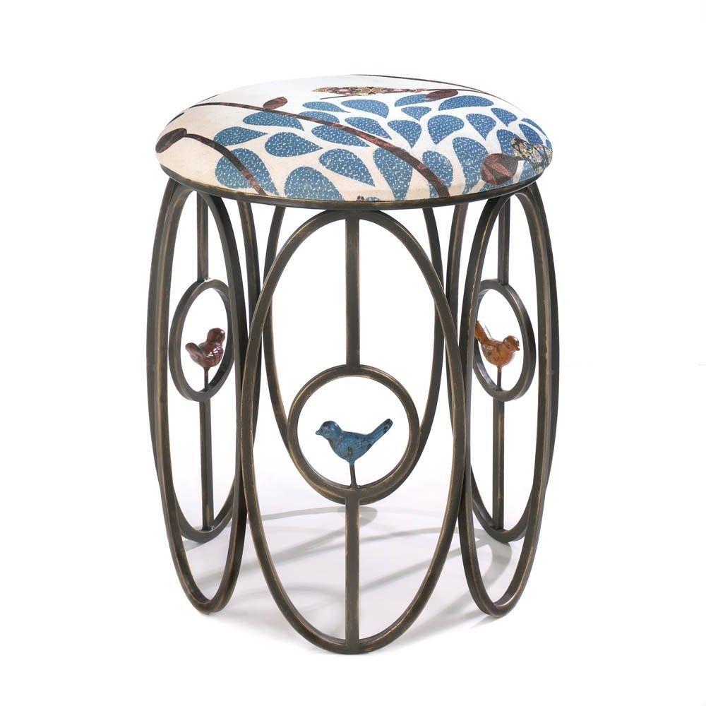 Metal stool vanity dressing table chair birds bedroom furniture metal stool vanity dressing table chair birds bedroom furniture home goods bar metalironstool birds geotapseo Images
