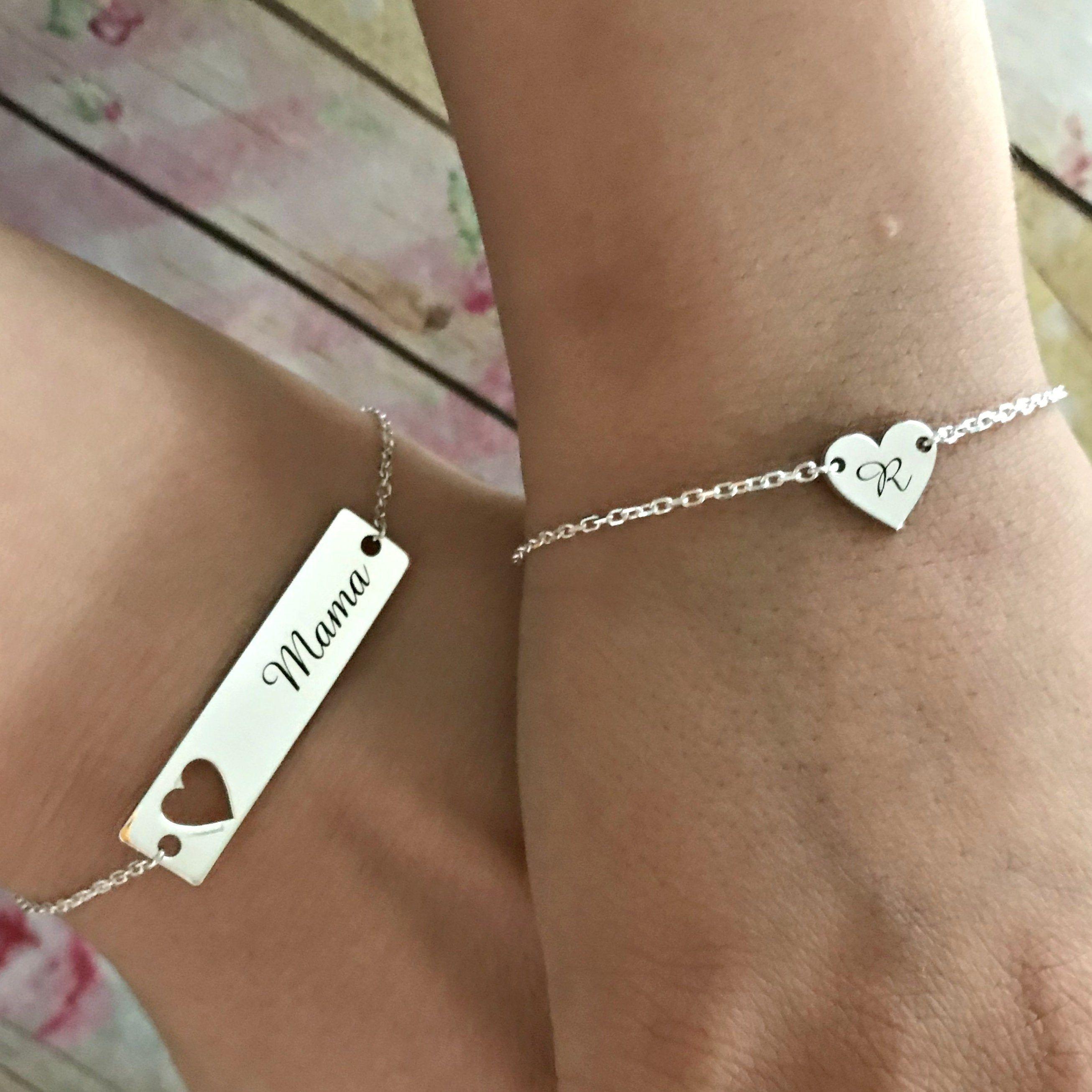Mother Daughter Bracelets Set Mama