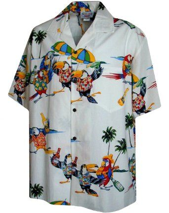 48398bf5 Amazon.com: Parrots Beer Margaritas Parrot Head Hawaiian Shirt: Clothing