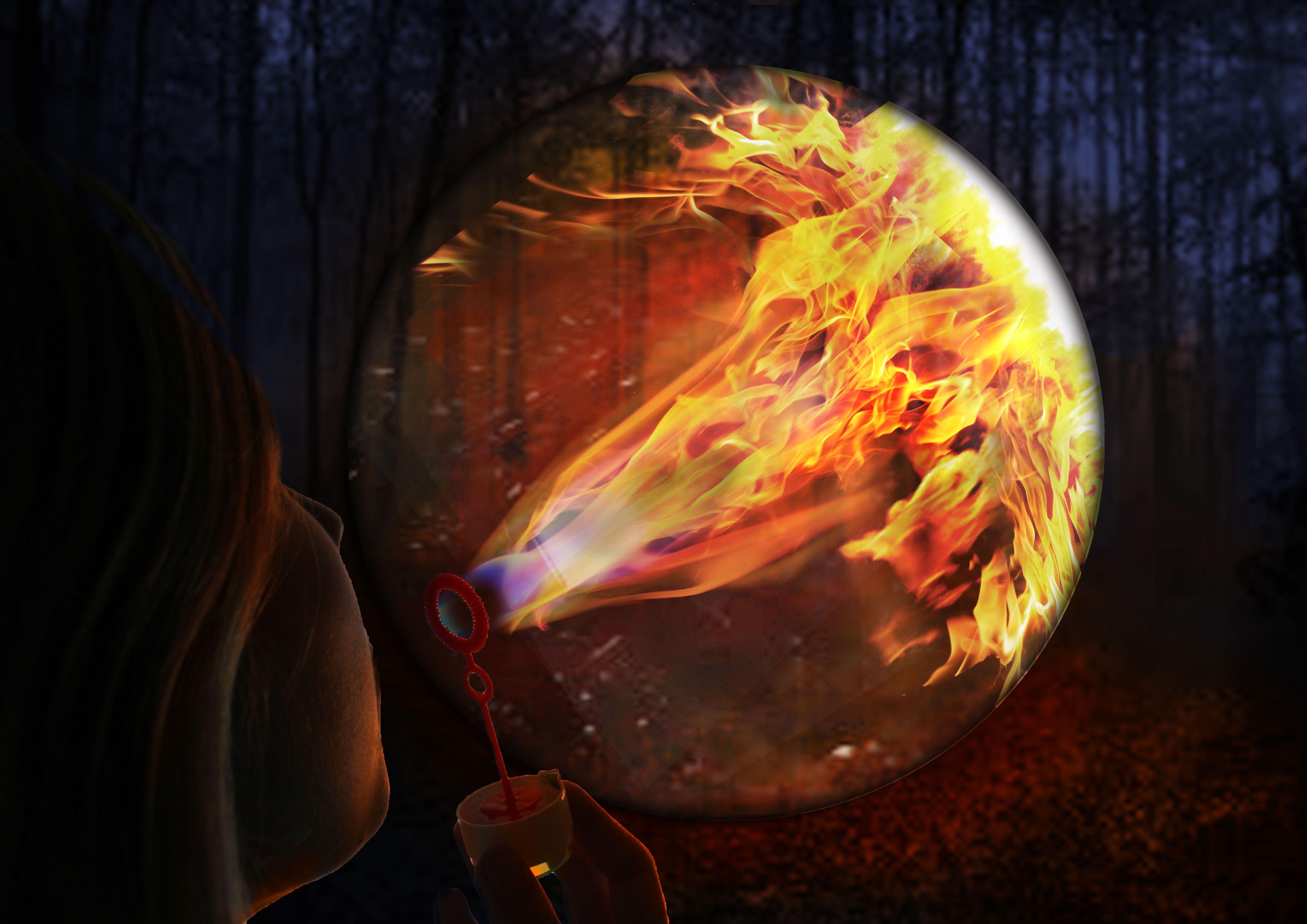 Photos of the fire bubble