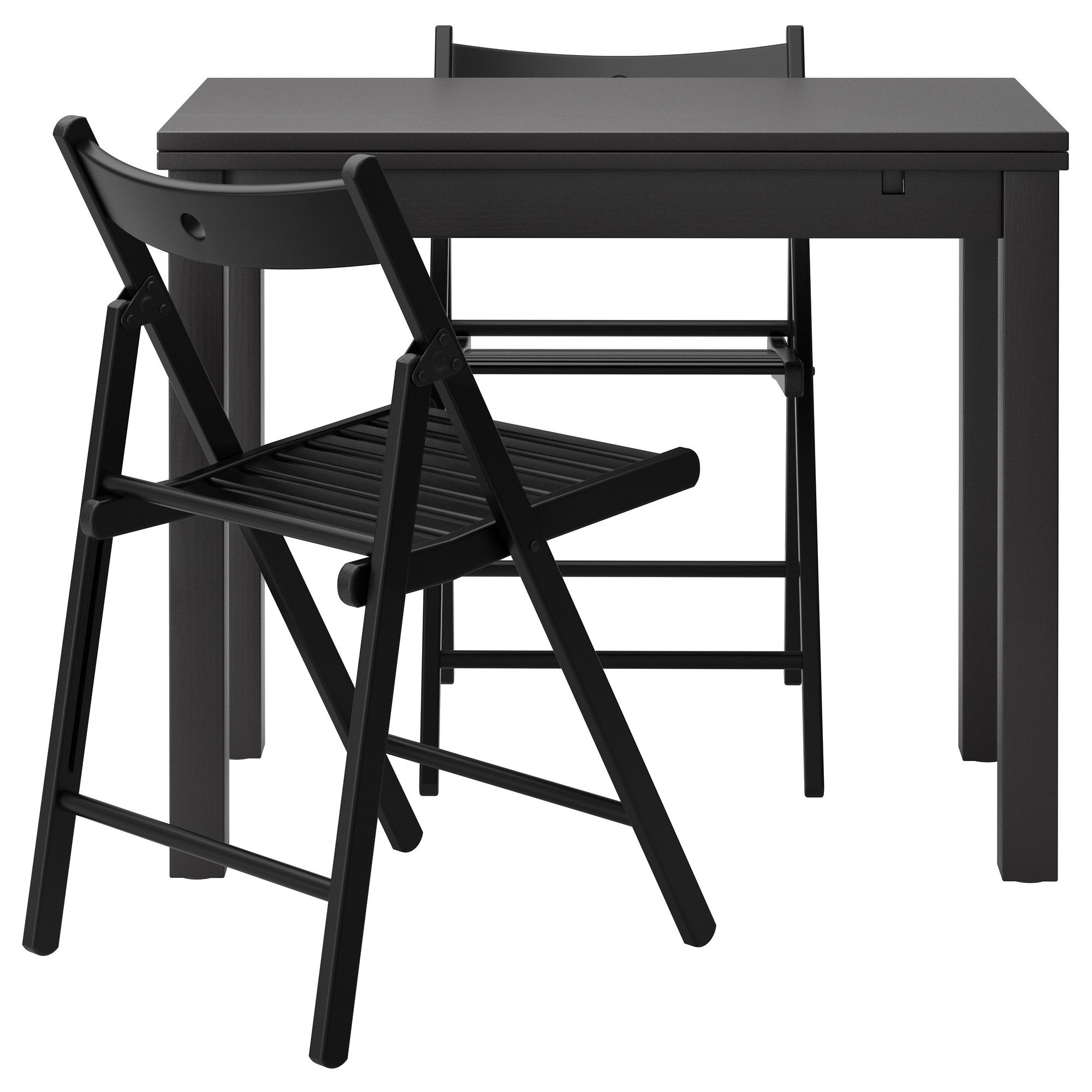 black furniture ikea. BJURSTATERJE Table And 2 Chairs IKEA 13498 Black Furniture Ikea