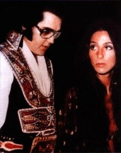Photo shop, Cher claims she never met Elivs, she saw him in concert when she was a child with her mother, but never met him.~~~~~Cher and Elvis, 1975