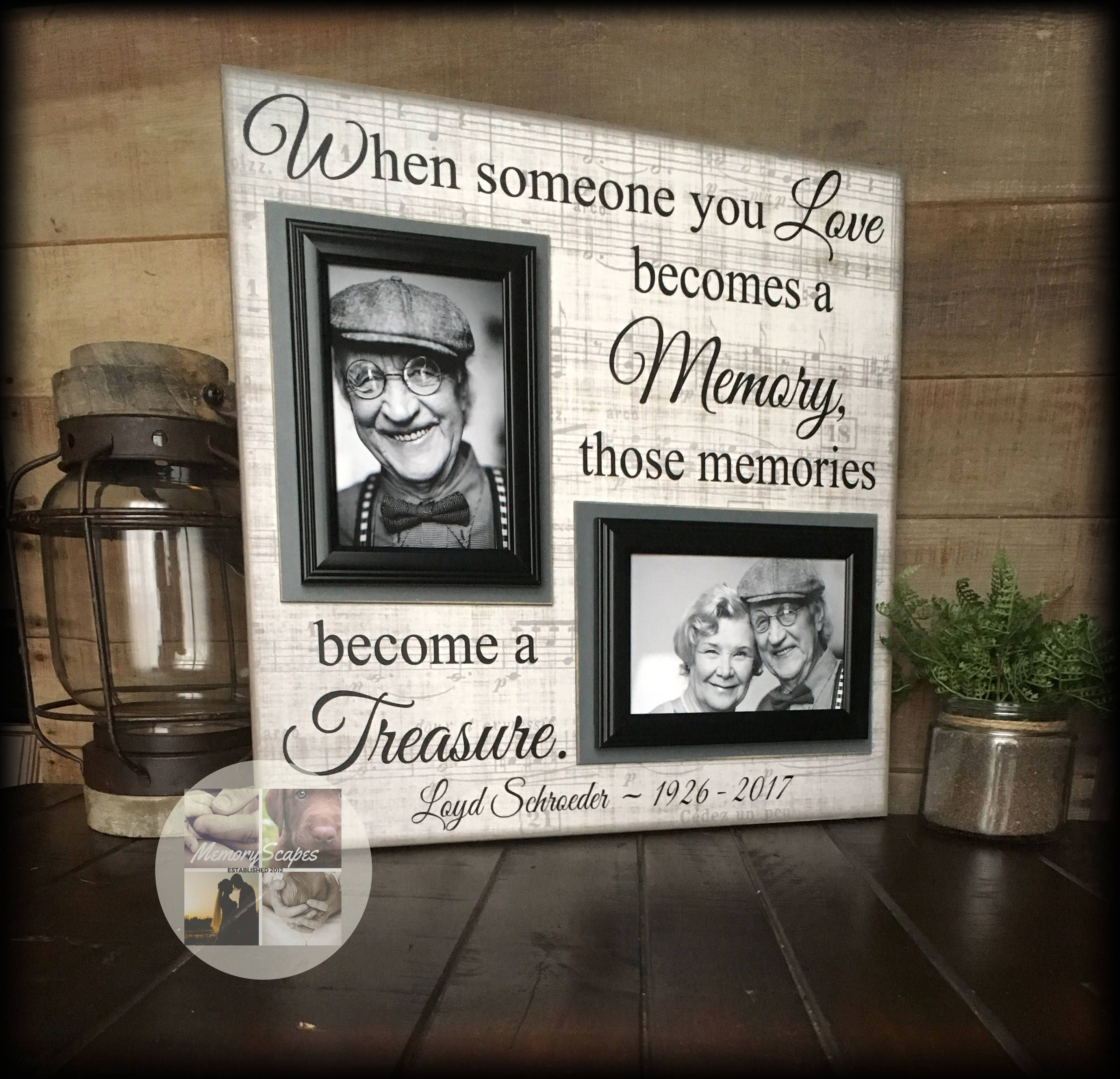 Bereavement gifts condolence gift memorial photo frame