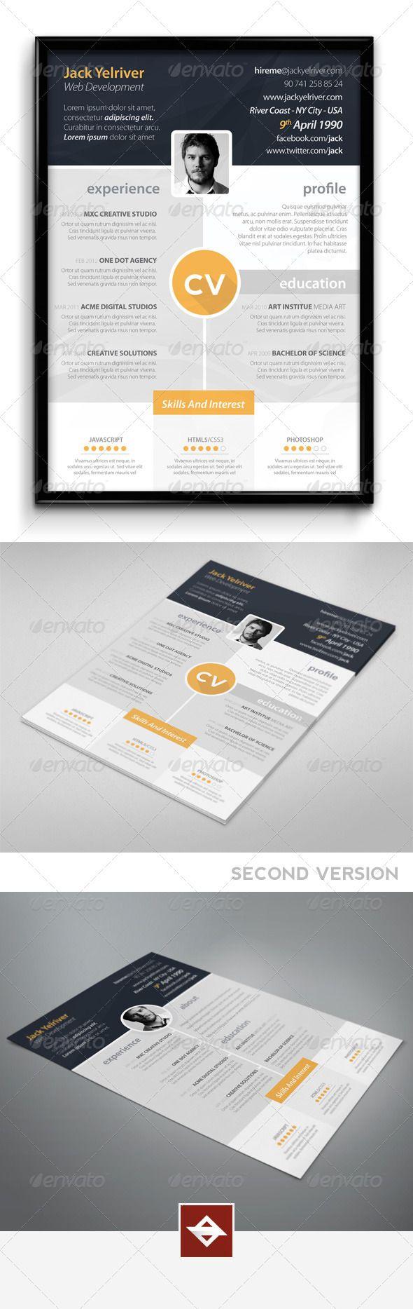 Premium CV   Typografie, Lebenslaufentwurf und Schreibwaren