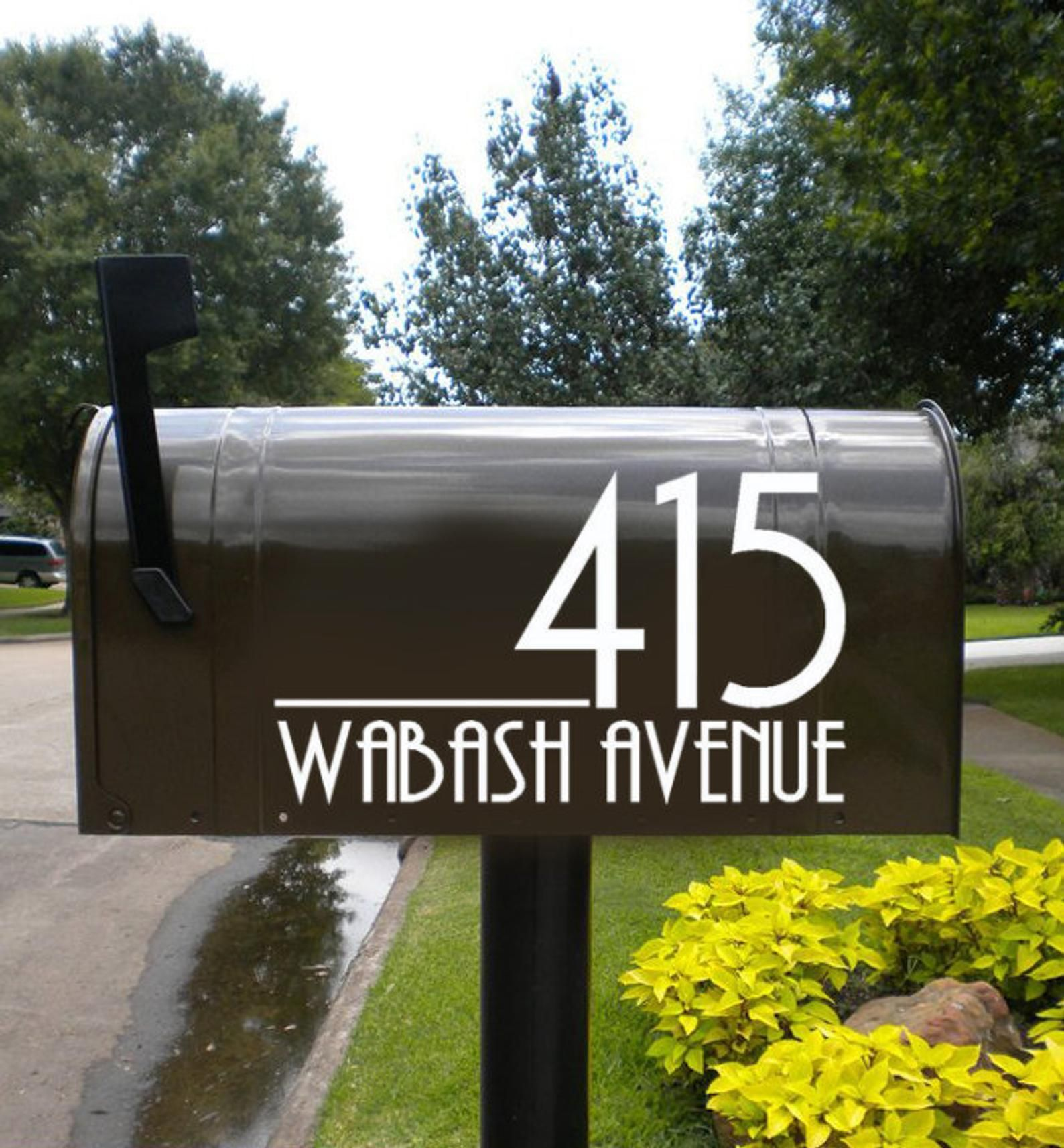 Modern Mailbox Numbers Modern Numbers For Mailbox Or Front Door