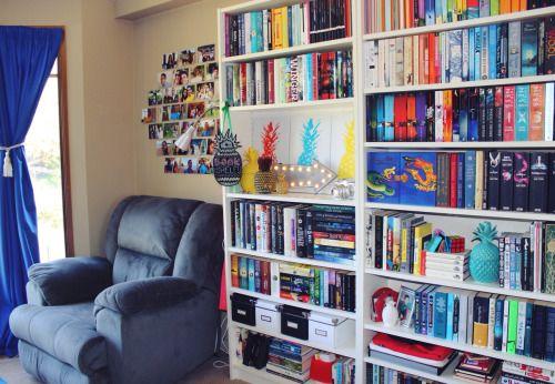 Bookswithdylanw bookshelf tour 2015 x my bedroom for Bedroom shelves inspiration