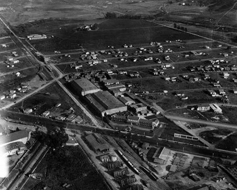 Aerial View Of The Hal Roach Studios Located At 8822 Washington Blvd Culver City Ca 1930 Source Lapl Culver City Aerial View Aerial