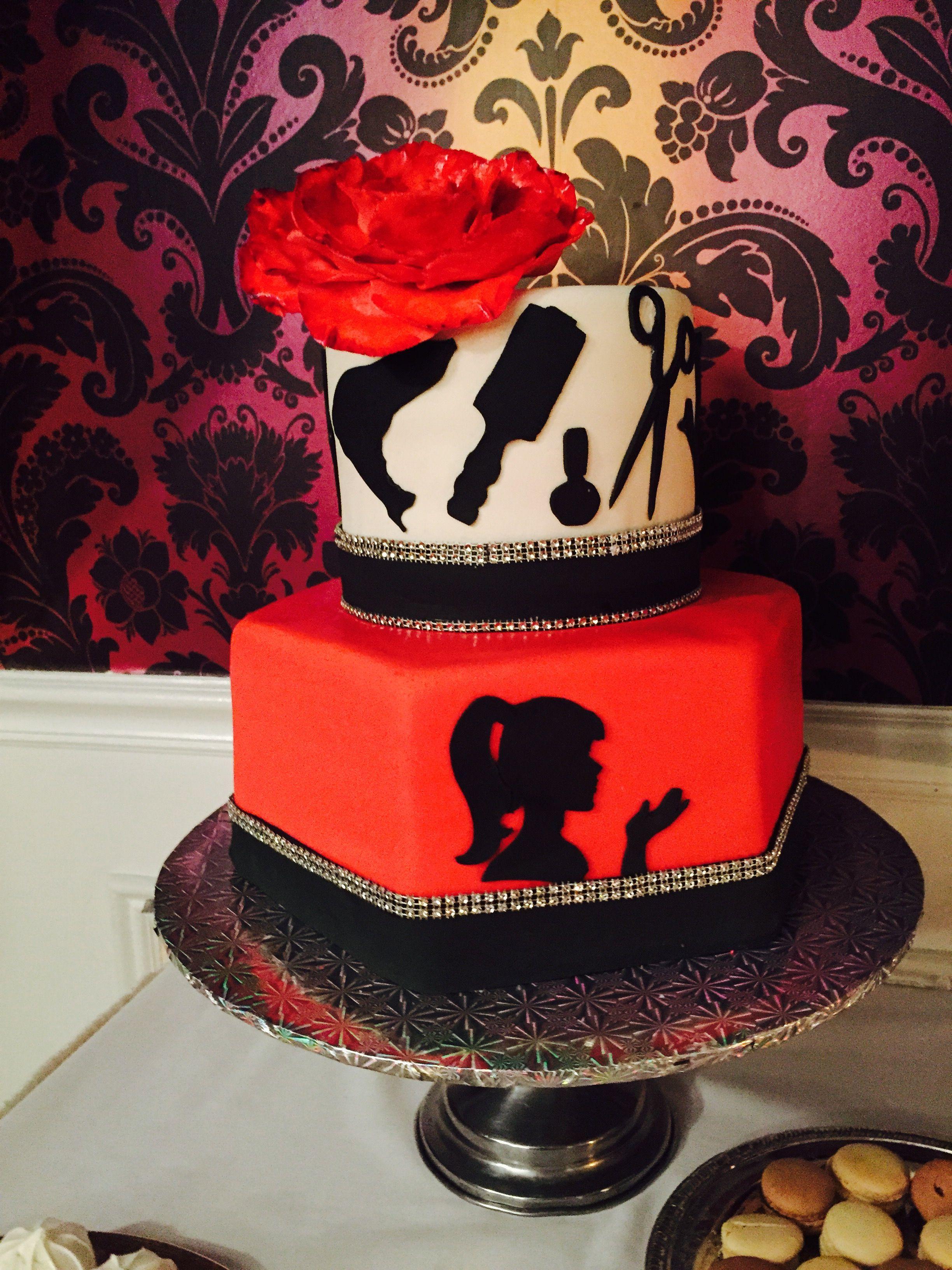 Cake for hairdresser   Hairdresser cake, Cosmetology cake ...