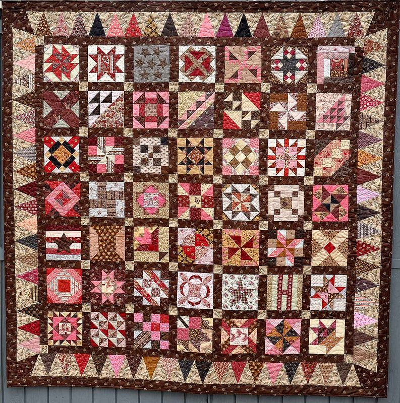 Civil War Quilts Classic Sampler With Triangle Border Civil War Beauteous Civil War Quilt Patterns