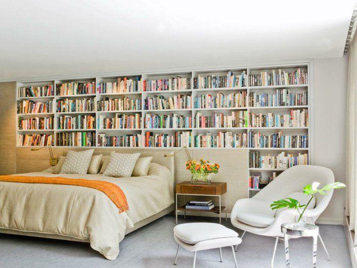 einrichtungsideen kleine räume schlafzimmer gästezimmer bibliothek ...