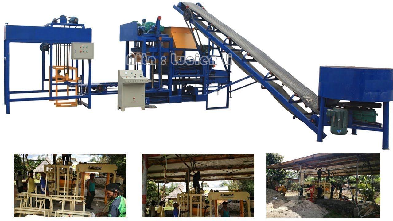 Machine De Fabrication De Briques Automatique Qt4 25 Au Senegal Machine Making Machine Structures Park Slide
