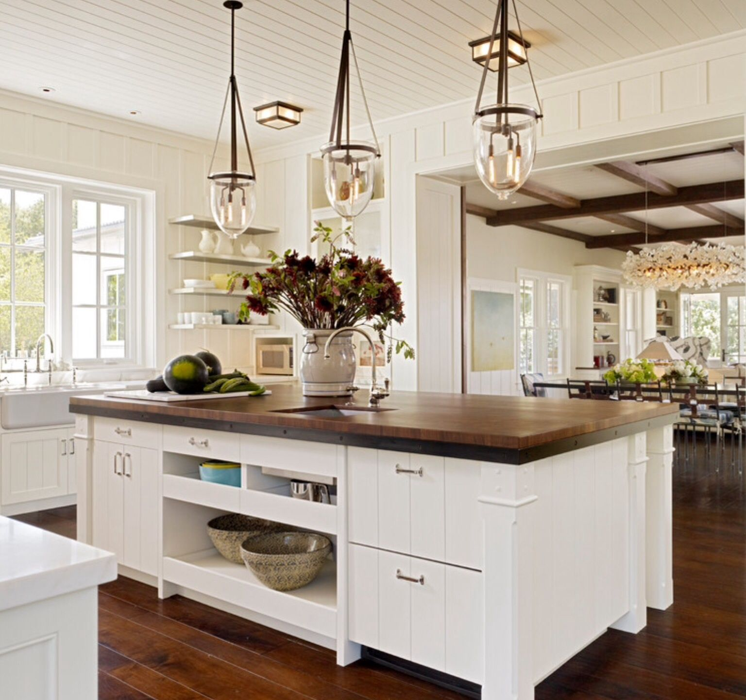 Looking out kitchen window  pin by barbara on open shelving  pinterest  kitchens house and
