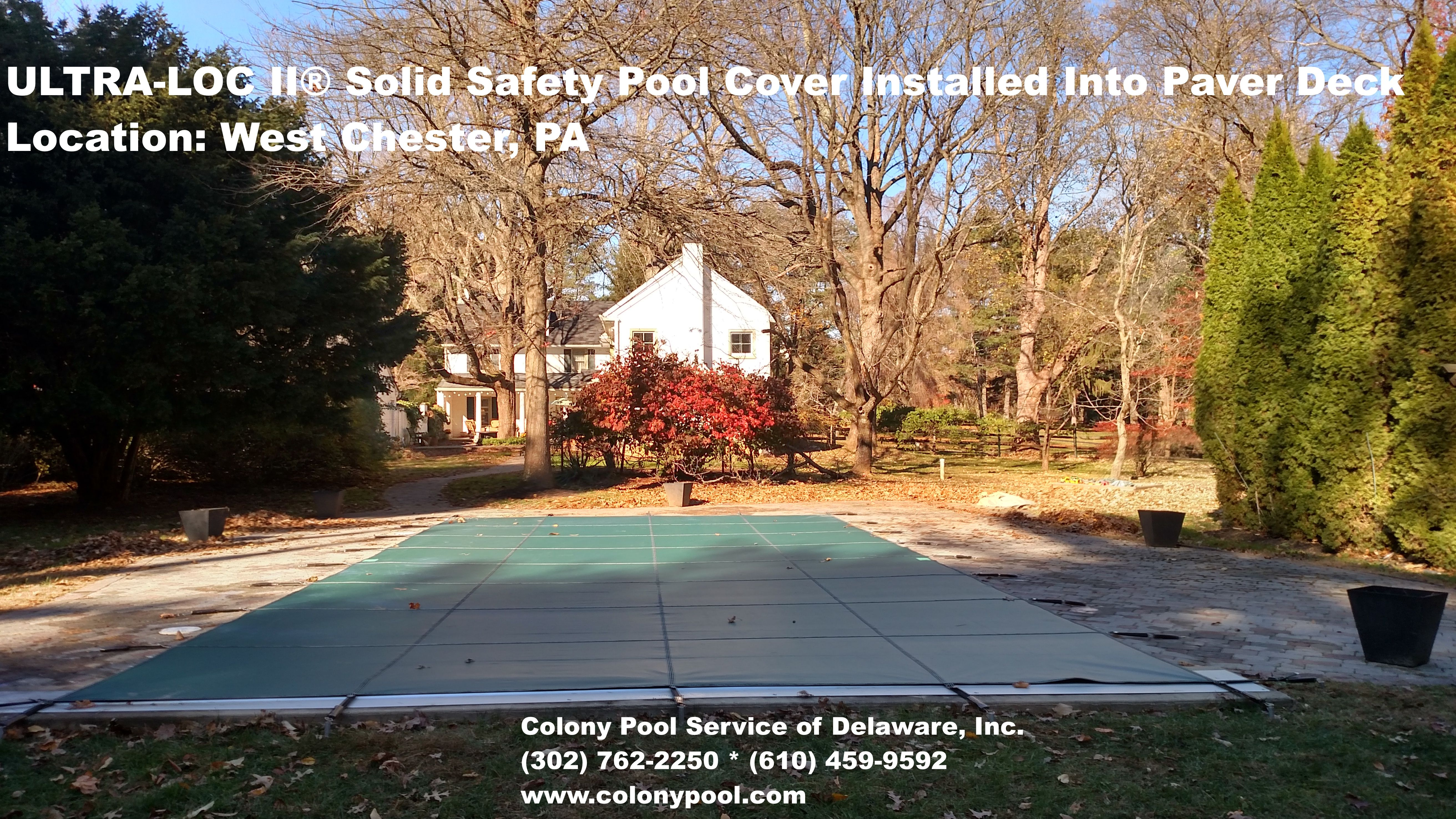 Ultra Loc Ii Solid Safety Pool Cover Installed By Colony Pool