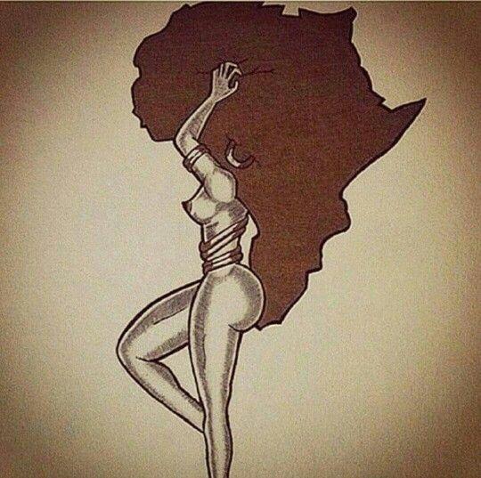 mother of africa black art work