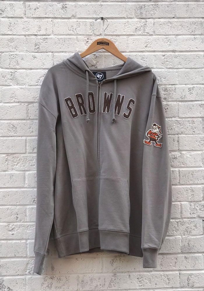 135bfbeaf5b2  47 Cleveland Browns Mens Grey Striker Fashion Hood - 48002612