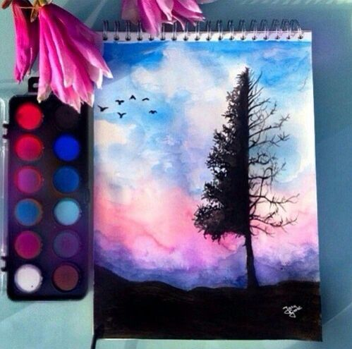 I Love This Watercolour Bird Watercolor Aquarell