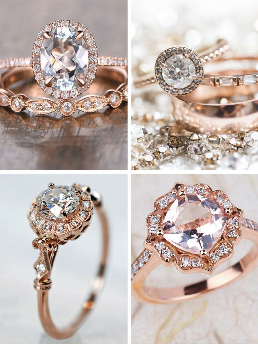 Strictly Weddings Top Picks For Rose Gold Engagement Rings Showcasing Modern Designs That Are Blended With