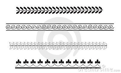 Simple ancient greek border patterns by Paulina94, via ...