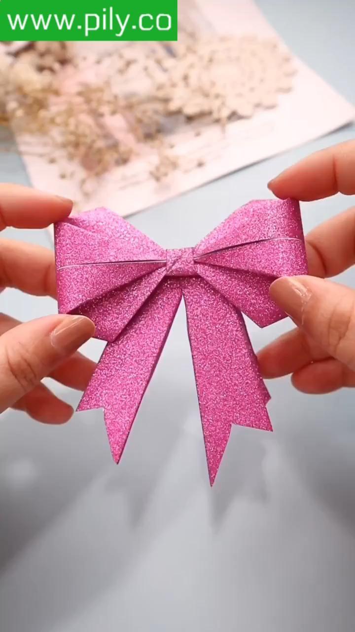 origami glitter bowknot