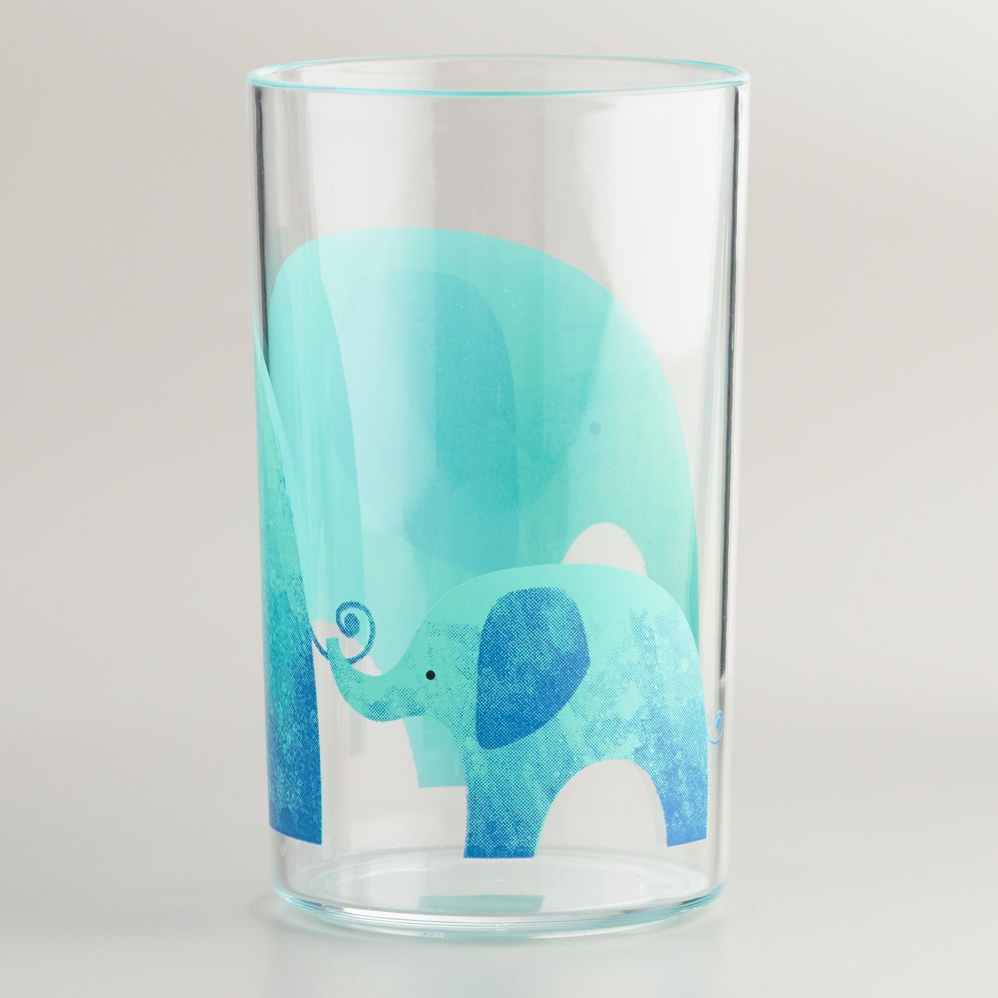 Acrylic Elephant Tumbler, Set of 4   World Market   For my home ...