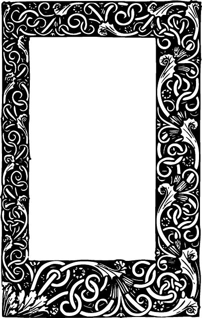 Black Tribal Frame White Border Free Rectangle Frame Clipart Frame Border Design Frame