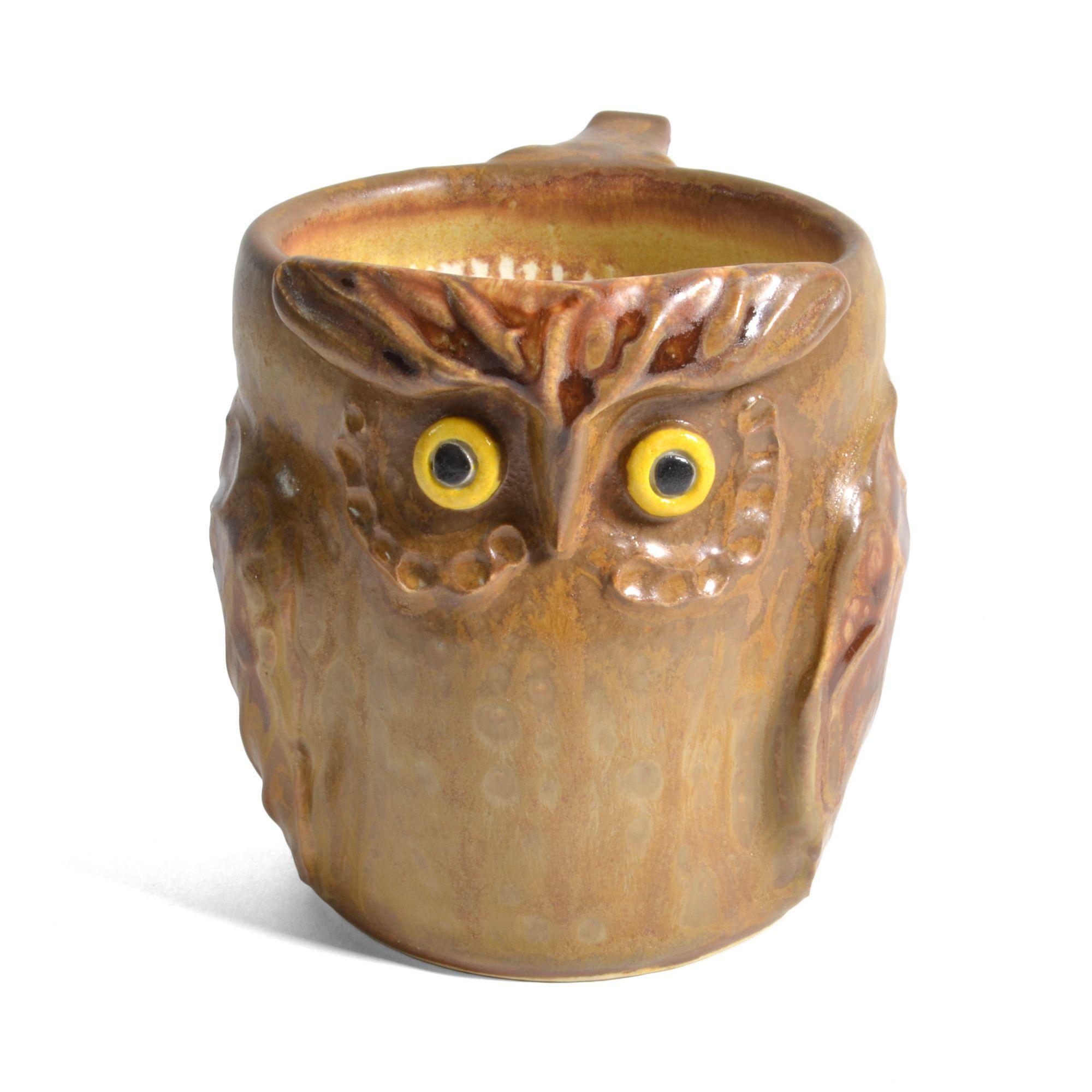 River Otter Pottery Great Horned Owl Mug